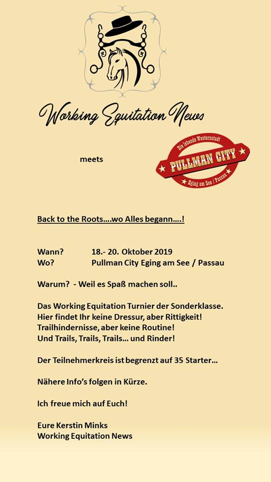 WORK-WEST Turnier in Pullman City 18.-20.10.2019